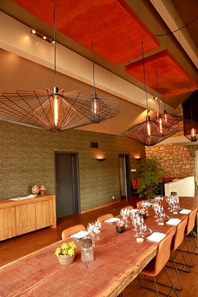 Eclairage LED dans un restaurant à Malmedy, réalisation Oledis